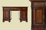 Antique Wilhelminian style Nussbaum secretary desk from 1880