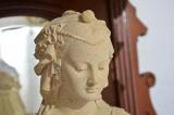 Antike Gründerzeit Historismus Vertiko Aufsatz Büste Figur von 1880